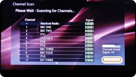Scan for Channels ends